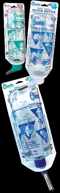 Oasis Crystal Clear Guinea Pig Bottle 16 oz